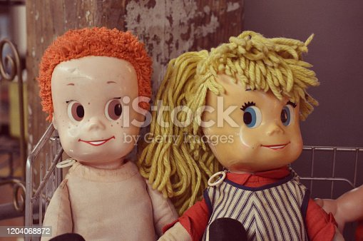 Creepy dolls from a second-hand store in Chattanooga, Tennessee