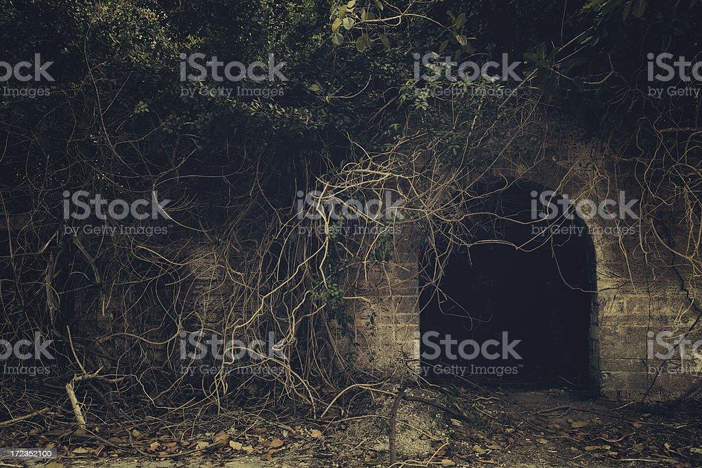 creepy entrance royalty-free stock photo