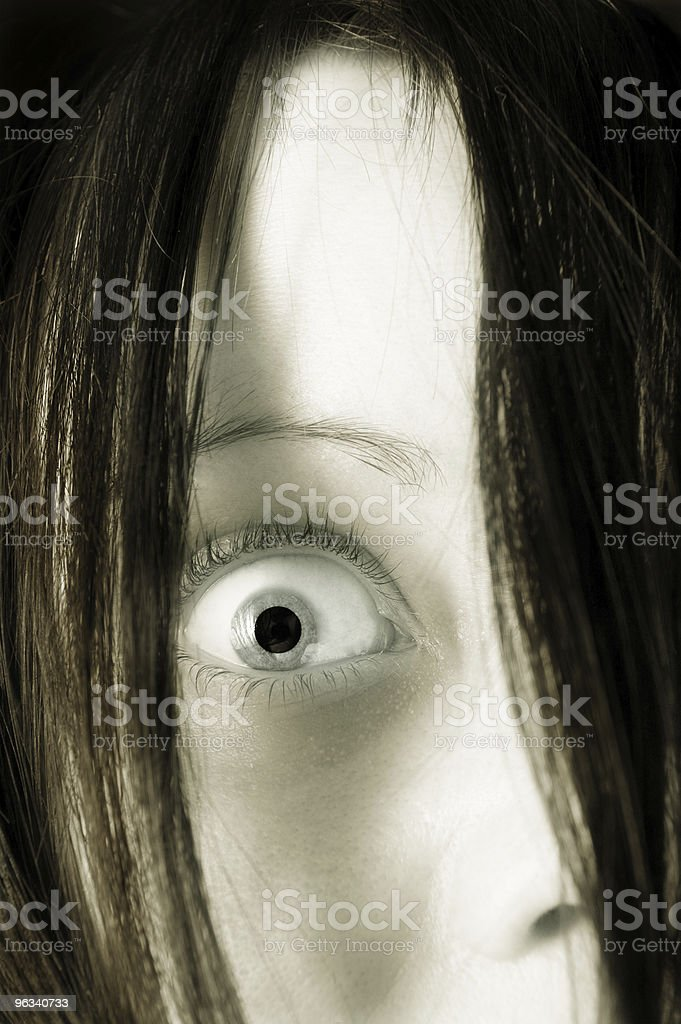 Creepy Girl royalty-free stock photo