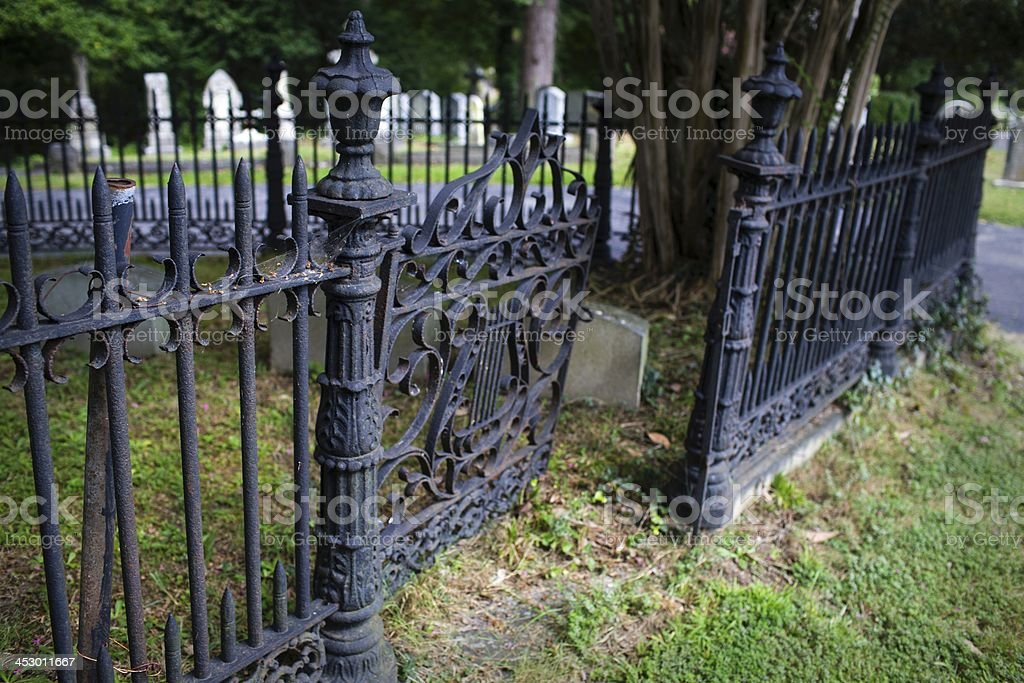 Creepy Graveyard Fence And Gate Stock Photo Amp More