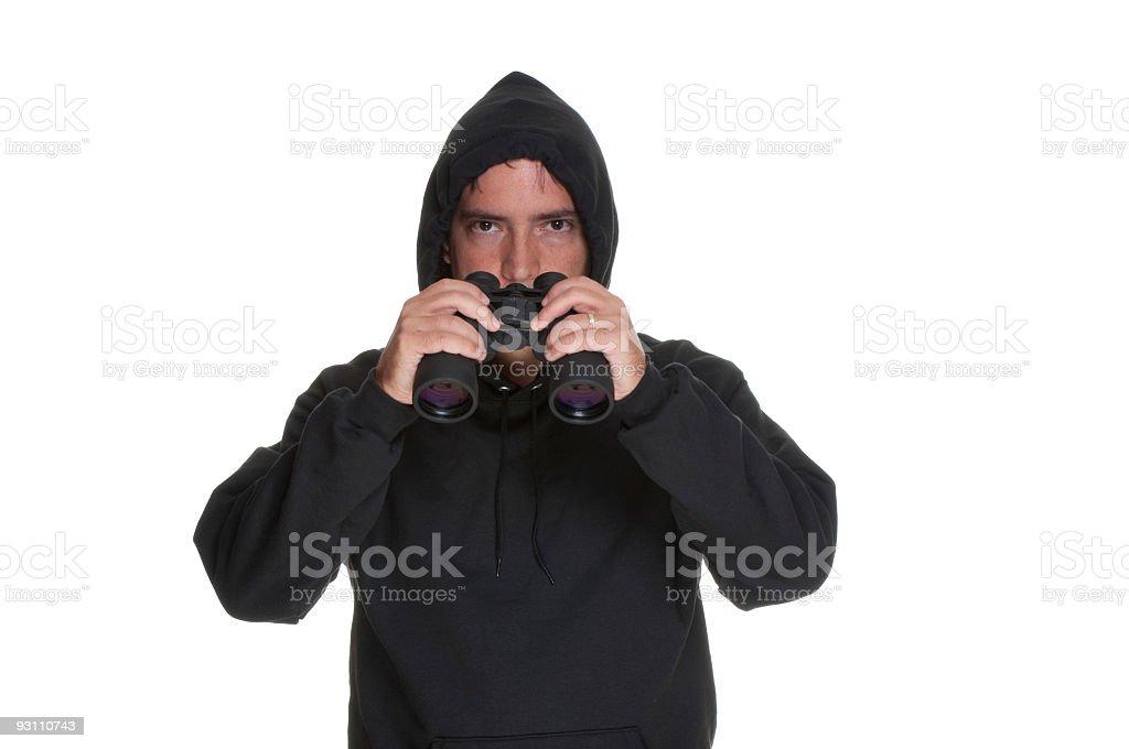 Creepy guy with binoculars. - Royalty-free Adamlar Stok görsel