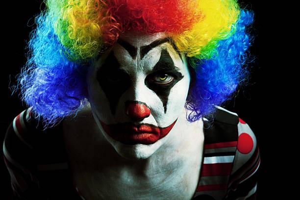 Creepy Halloween Clown - foto de stock