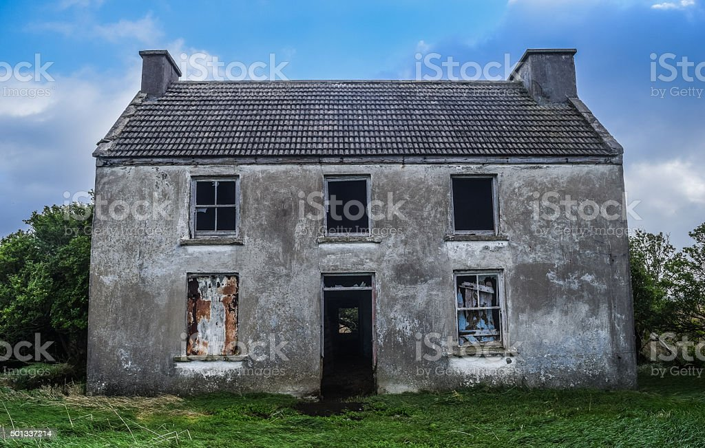 Assustador casa - foto de acervo