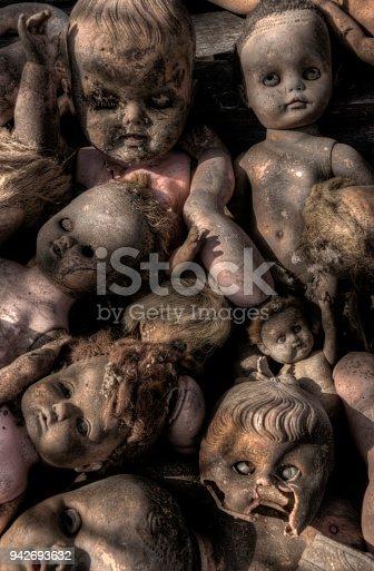 istock Creepy old Baby Dolls 942693632