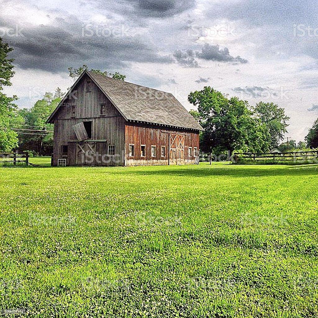 Creepy Old Barn stock photo