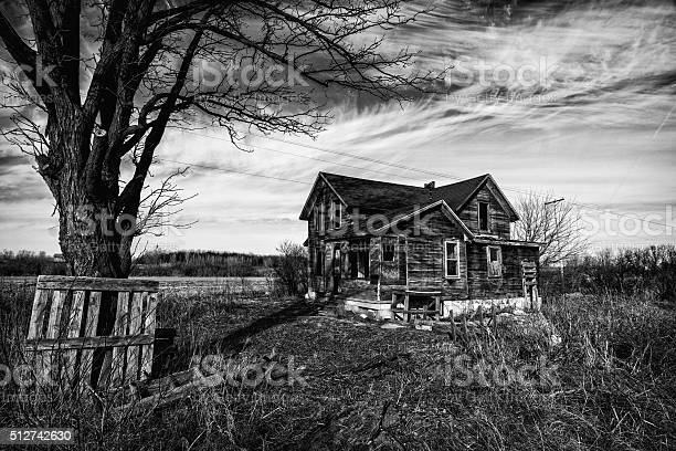 Creepy Old House Stock Photo - Download Image Now