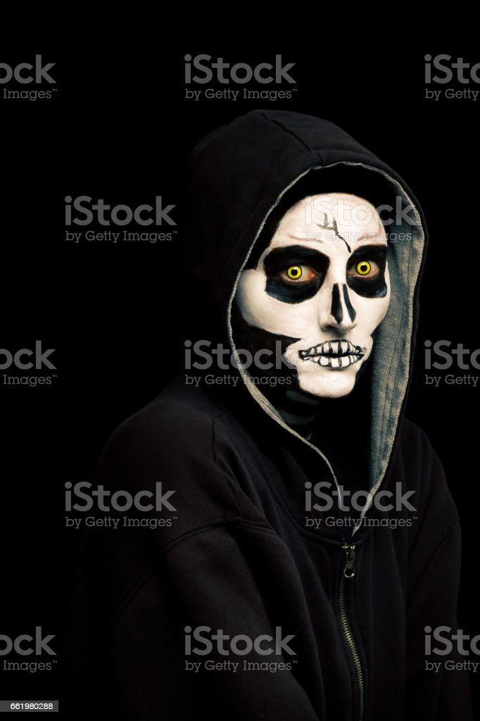 Creepy Skull Face stock photo