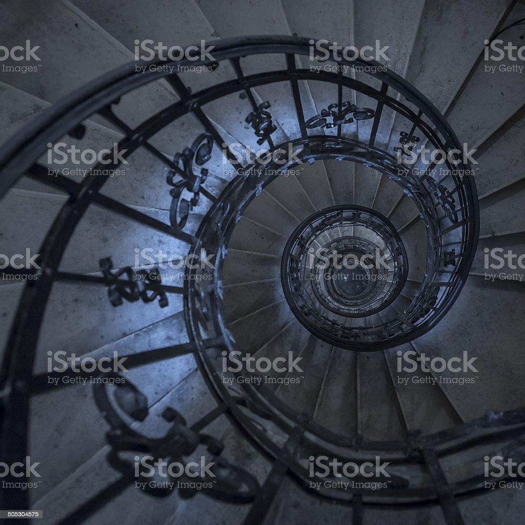 Creepy spiral staircase royalty-free stock photo