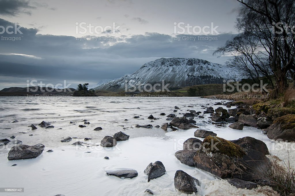 Cregennan Lake stock photo