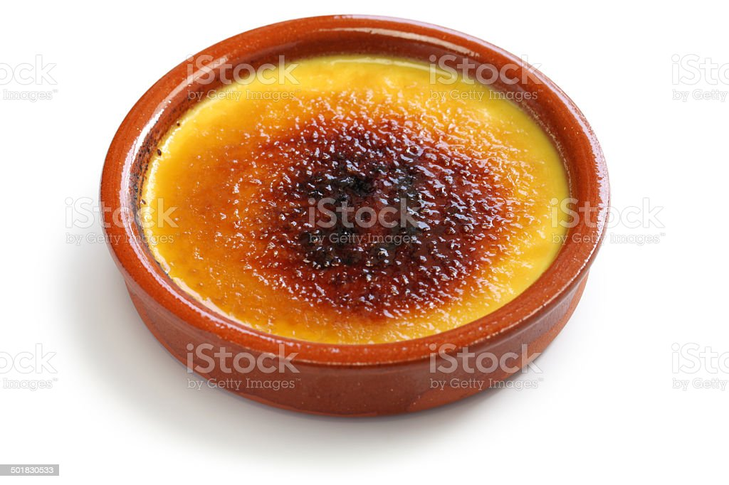 crema catalana stock photo