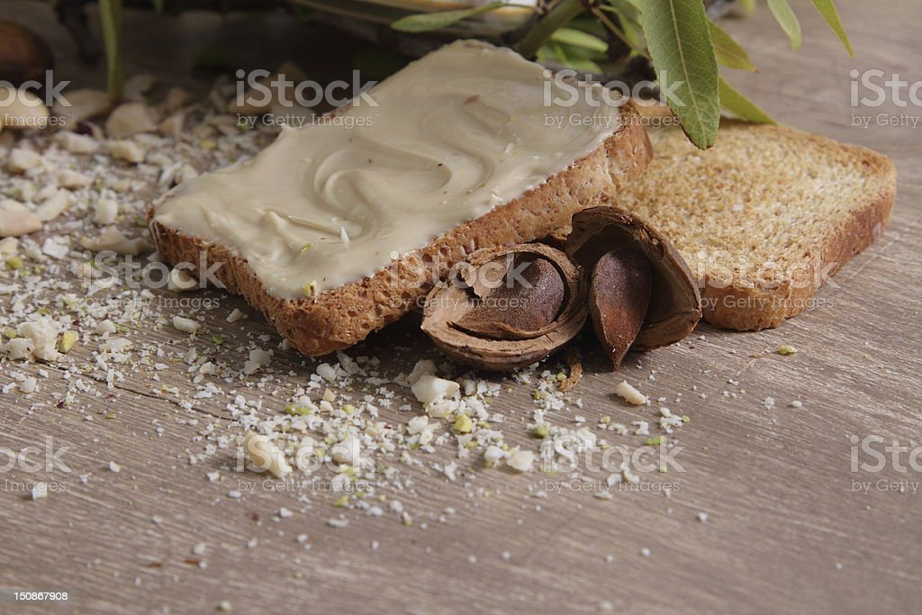 crema di mandorle - Foto stock royalty-free di Alimenti secchi