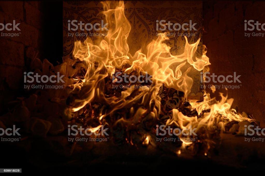 Cremate stock photo
