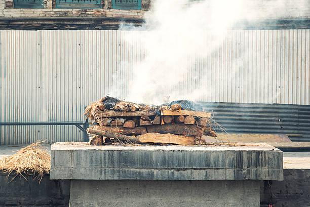 Cremation stock photo