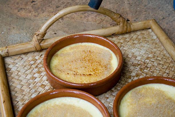 crème brûlée - brulée imagens e fotografias de stock