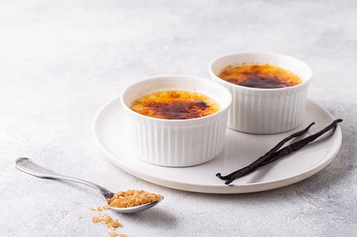Delicious panna cotta dessert with raspberries sauce