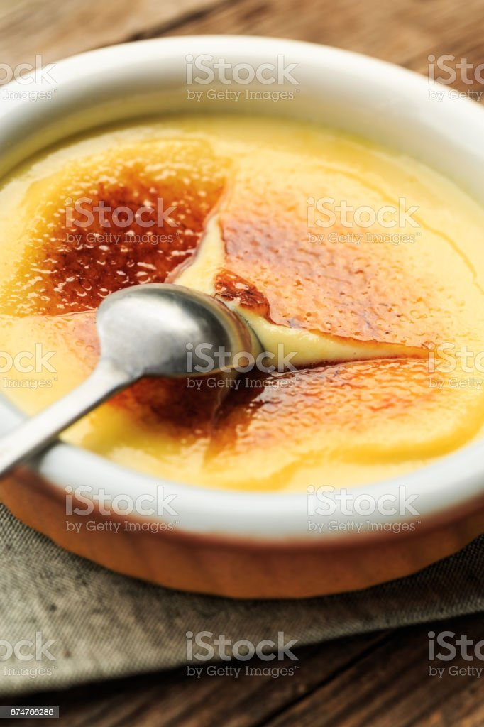 Creme Brulee (crema catalana) stock photo