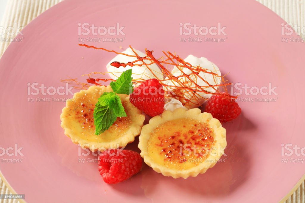 Creme brulee tartlets royalty-free stock photo