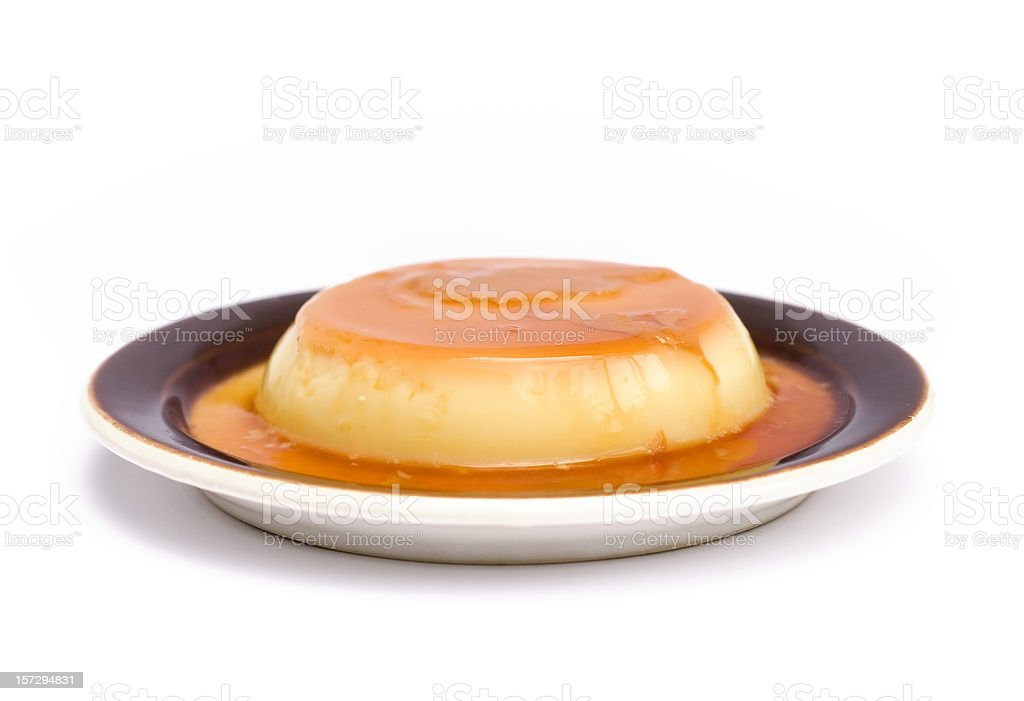 Creme Caramel stock photo