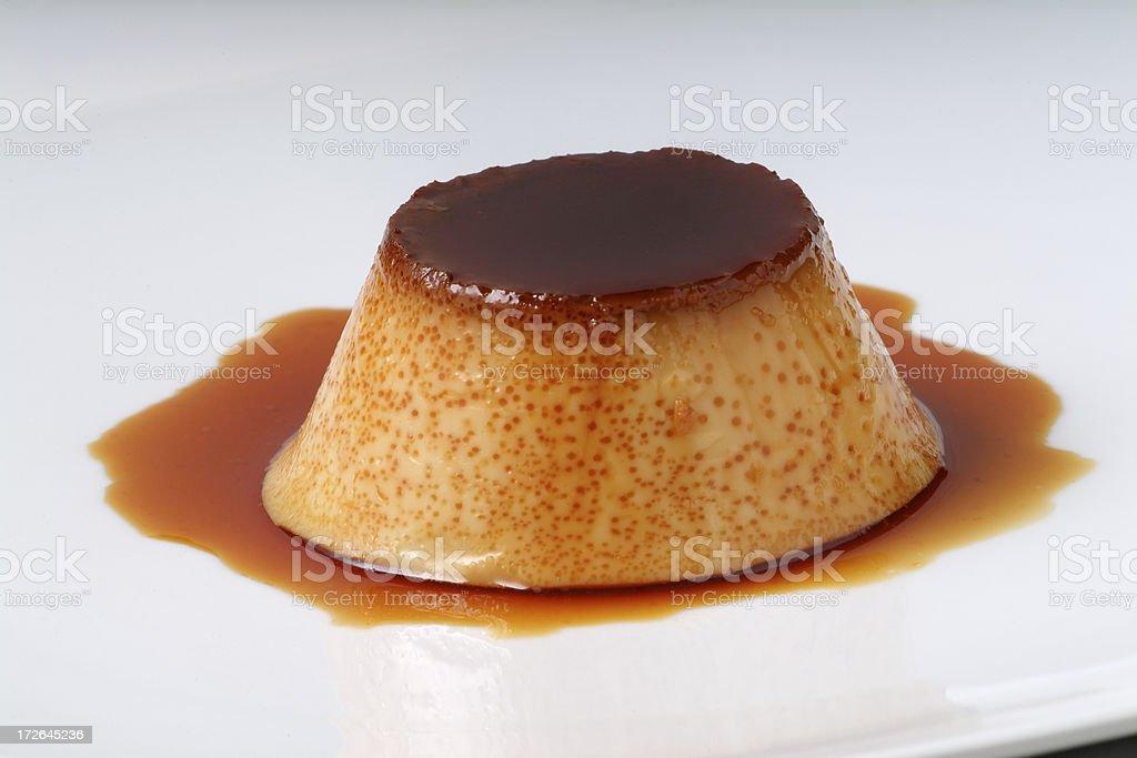 Creme caramel (flan de huevo) stock photo