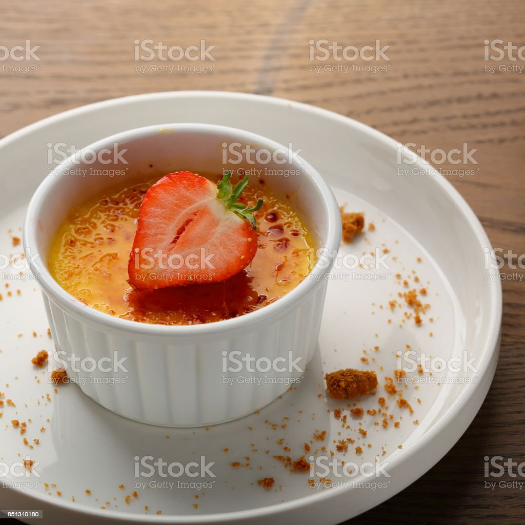 Creme dessert, food closeup stock photo