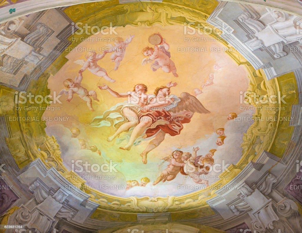 Cremona - The fresco in Chiesa di San Sigismondo stock photo
