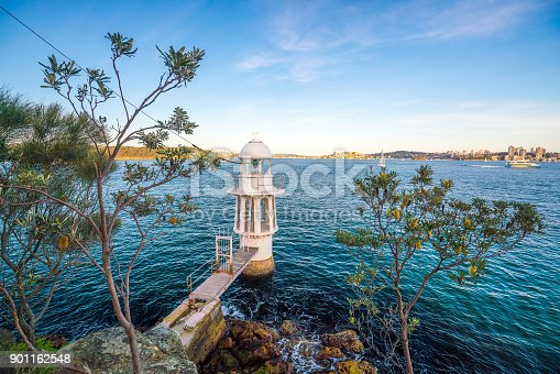 Cremorne Point Lighthouse on Sydney Harbour, Australia