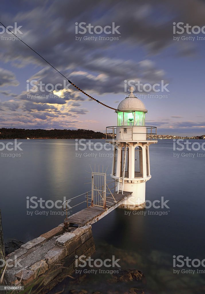 Cremorne Point Lighthouse Sydney Harbour stock photo