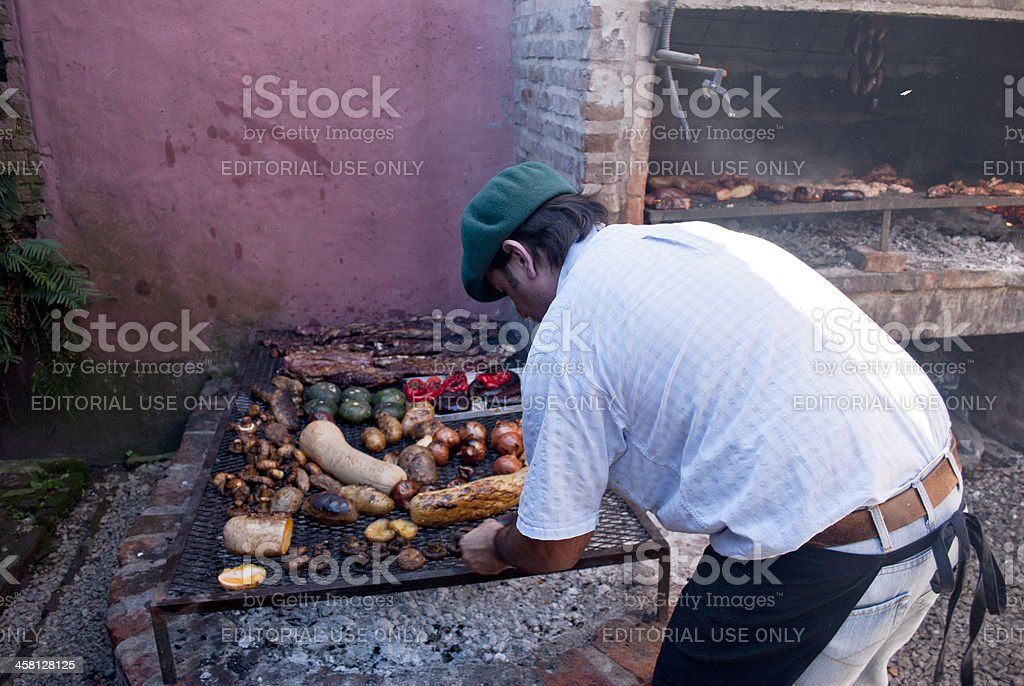 Creole barbecue stock photo