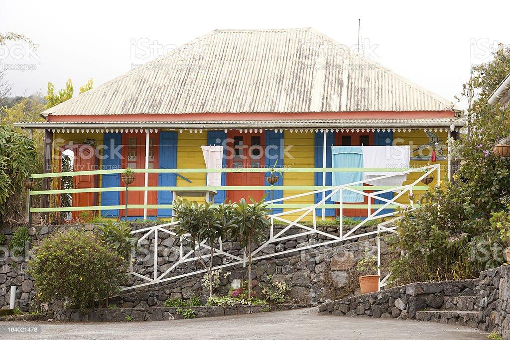 Creole house stock photo