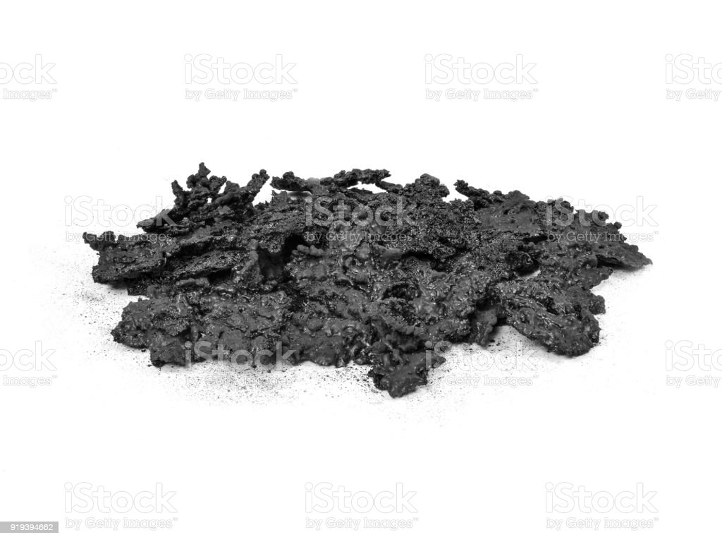 Creosote removed from Wood Stove Chimney. stock photo