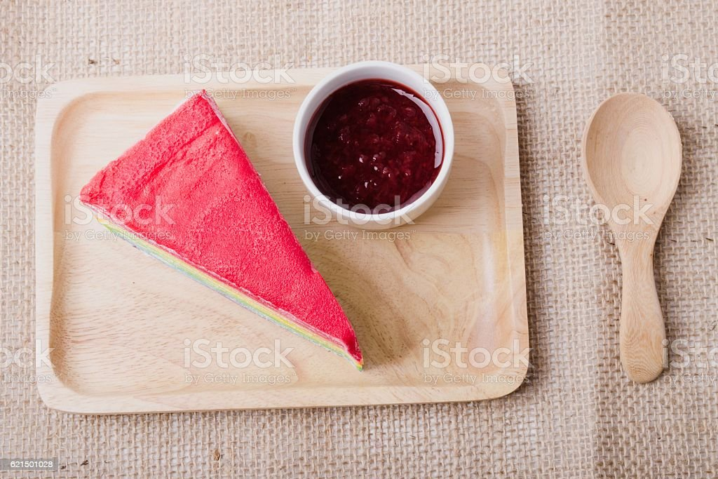 Crêpe-Kuchen  Lizenzfreies stock-foto