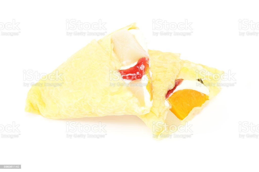 Crepe in a white background royalty-free stock photo