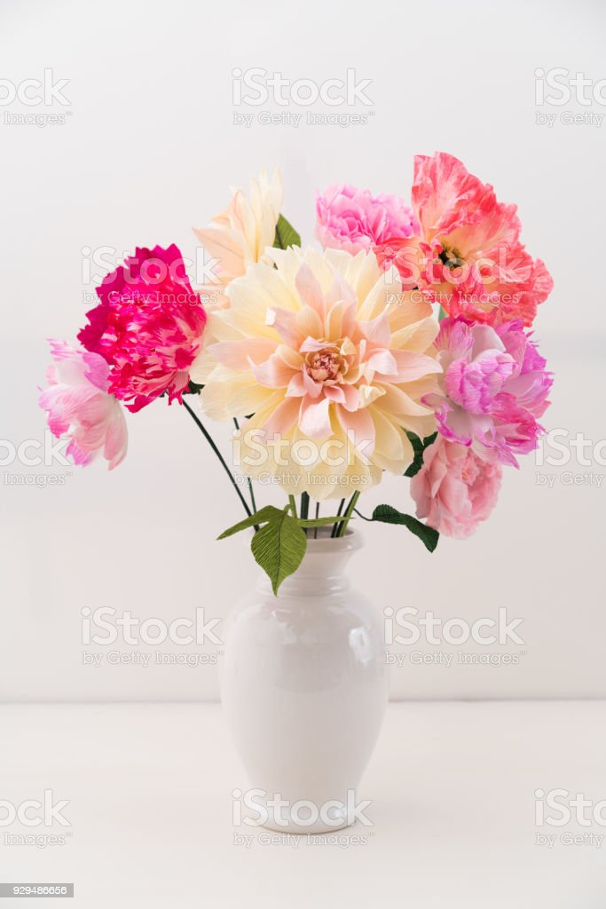 Crepe Paper Flower Bouquet Stock Photo Download Image Now Istock