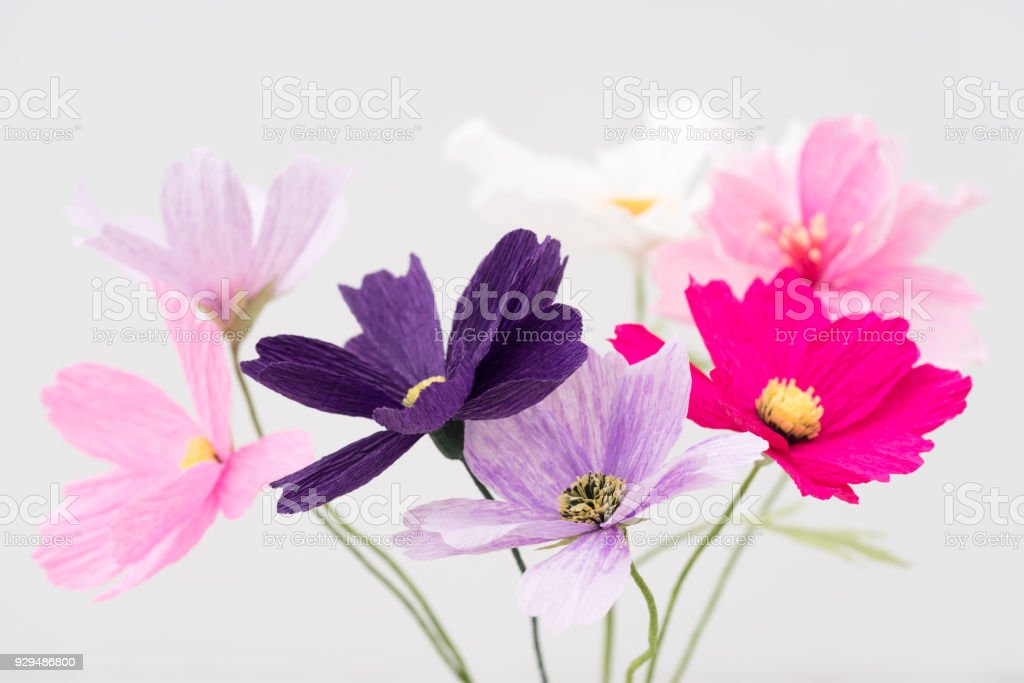Crepe Paper Flower Bouquet Stock Photo Download Image Now