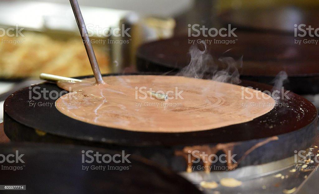 Crepe Preparation Chocolate zbiór zdjęć royalty-free