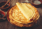 istock Crepes are homemade. Pancakes. Selective focus. Food 1067859384