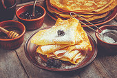 istock Crepes are homemade. Pancakes. Selective focus. Food 1067859400