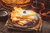 istock Crepes are homemade. Pancakes. Selective focus. Food 1067859402