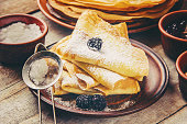 istock Crepes are homemade. Pancakes. Selective focus. Food 1067859428