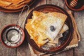istock Crepes are homemade. Pancakes. Selective focus. Food 1067859450