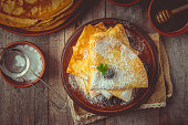 istock Crepes are homemade. Pancakes. Selective focus. Food 1067859456
