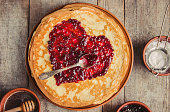 istock Crepes are homemade. Pancakes. Selective focus. Food 1067859516
