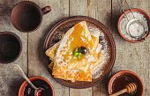 istock Crepes are homemade. Pancakes. Selective focus. Food 1067860306