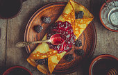 istock Crepes are homemade. Pancakes. Selective focus. Food 1067860540