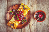 istock Crepes are homemade. Pancakes. Selective focus. Food 1067860552