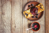 istock Crepes are homemade. Pancakes. Selective focus. Food 1067860556