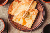 istock Crepes are homemade. Pancakes. Selective focus. Food 1067860562