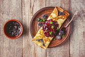 istock Crepes are homemade. Pancakes. Selective focus. Food 1067860584