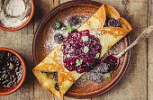 istock Crepes are homemade. Pancakes. Selective focus. Food 1067860592
