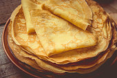 istock Crepes are homemade. Pancakes. Selective focus. Food 1067860654